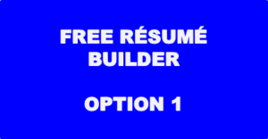 Free Resume Builder - Option 1