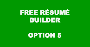 Free Resume Builder - Option 5