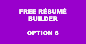 Free Resume Builder - Option 6